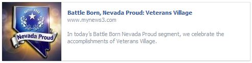 Battle Born, Nevada Proud: Veterans Village
