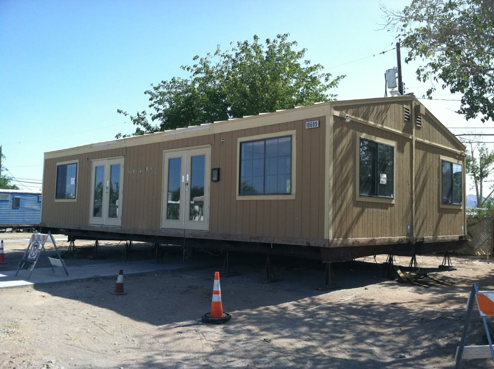 """This is our """"Repurposed Building"""" for our Willow Glen Mobile Home Park. We can now help our families with children, seniors and Veterans through our collaboration with Three Square Food Bank, East Valley Family Services and the Medical Reserve Corps of Southern Nevada.;"""